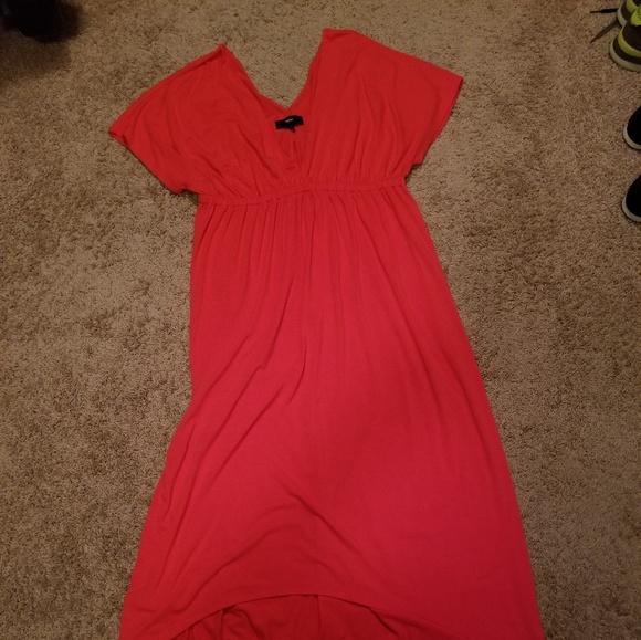 Watermelon Chevron Maxi Dress